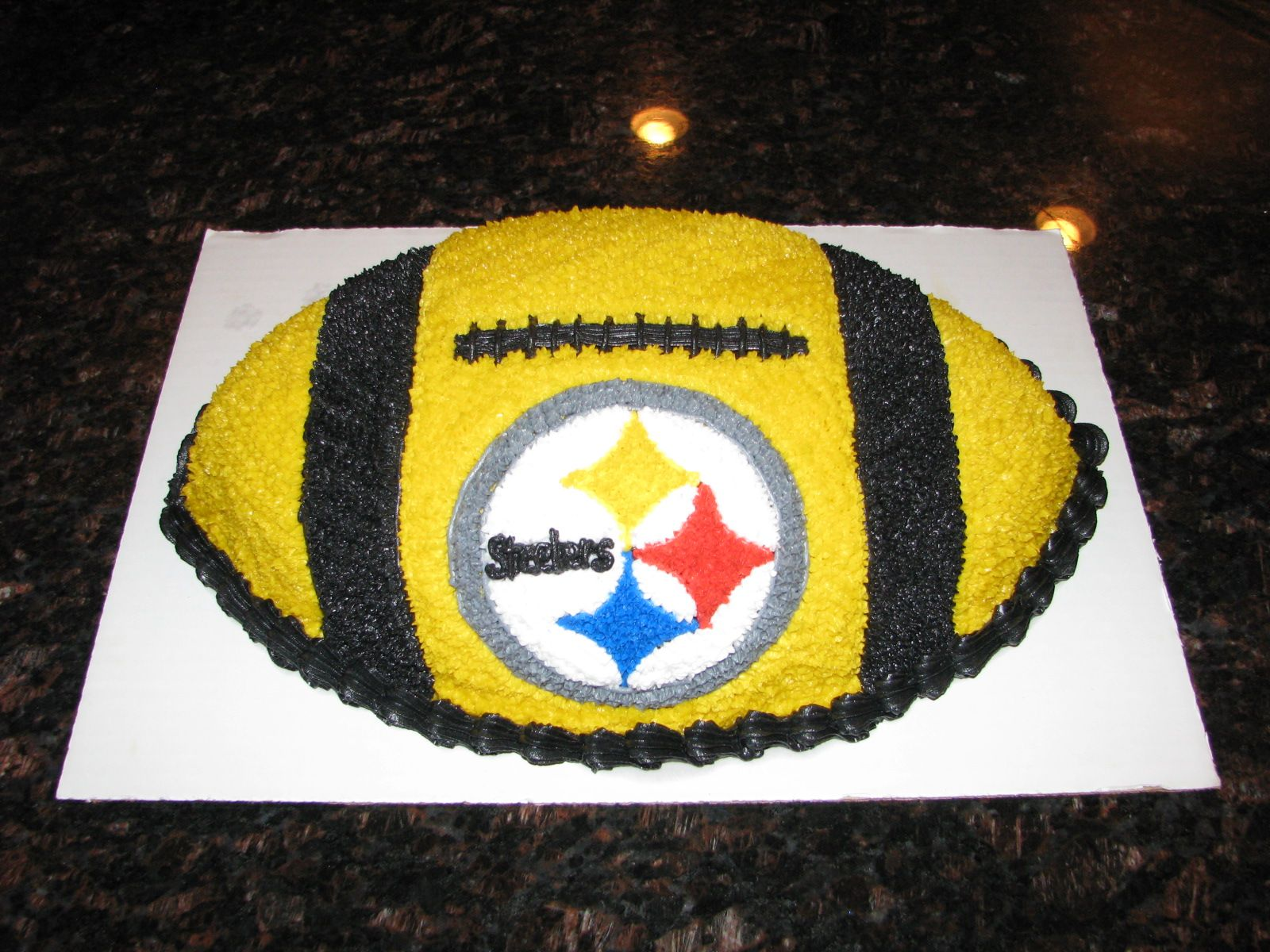 Steelers Football Cake With Images Football Party Cake