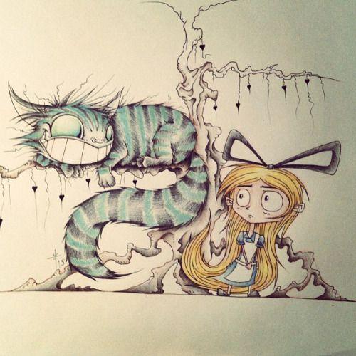 Evil Alice In Wonderland Alice In Wonderland Drawings Cheshire Cat Drawing Alice In Wonderland Artwork