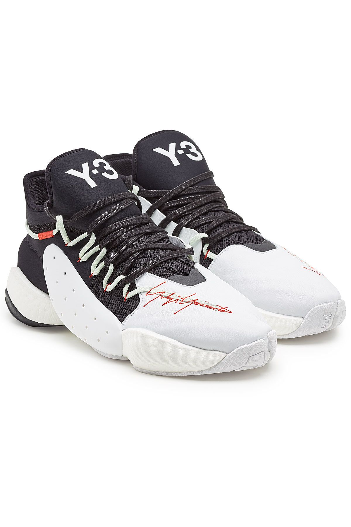 52cb32c5e38 Y-3 BYW BBALL SNEAKERS WITH LEATHER.  y-3  shoes