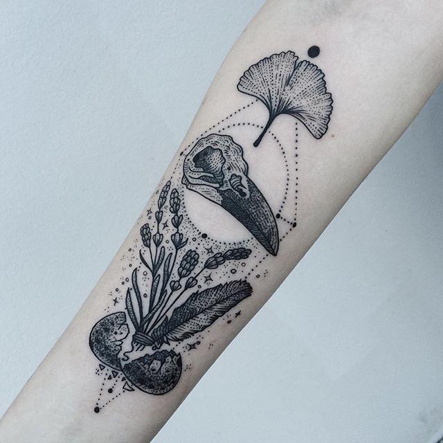 Minimalist Raven Tattoo: Similar But Different Friend Tattoos, Part One: Raven
