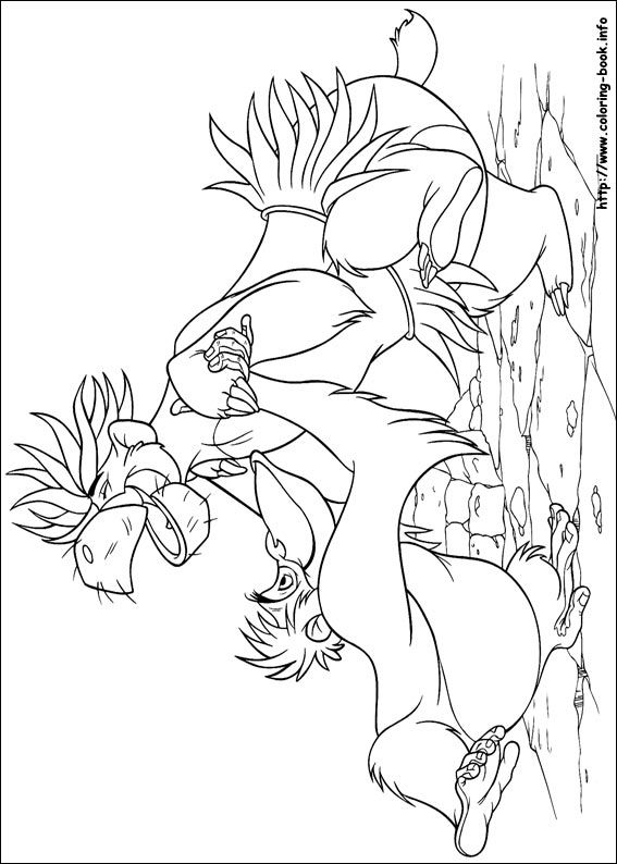 King Louie Baloo Jungle Book Coloring Picture