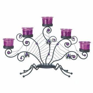 Spooky Spider Web Candelabra