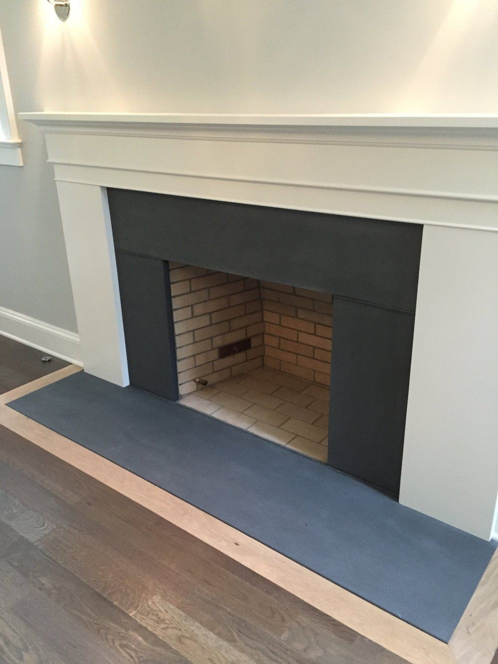 Dark Bluestone Fireplace Surround And Hearth Honed Vt