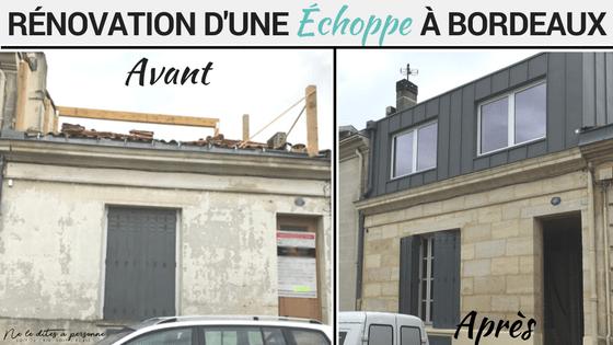 Surélévation Bordeaux rénovation et surélévation échoppe bordelaise - avant après - blog