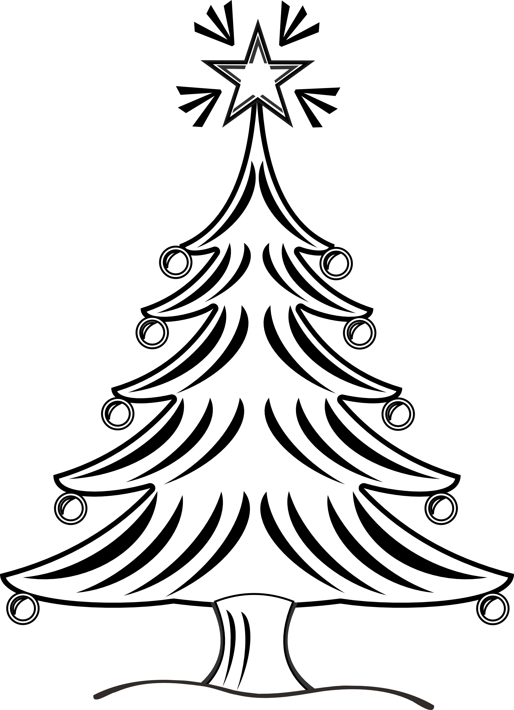 Pin By Sandy Morgan On Sketches And Drawings Christmas Tree Clipart Tree Clipart Clipart Black And White