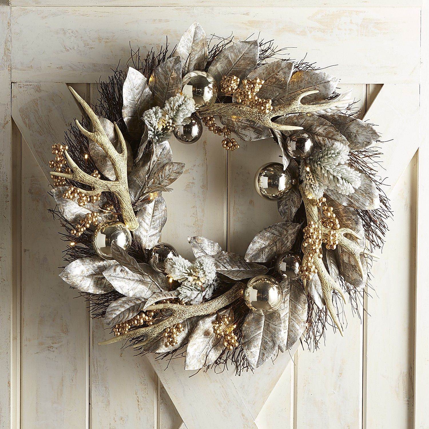 holiday christmas antler wreath - HD 1500×1500