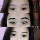 Microblading Asian Korean eyebrows Microblading Asnaicolorful