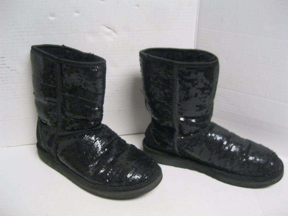 black shimmer uggs