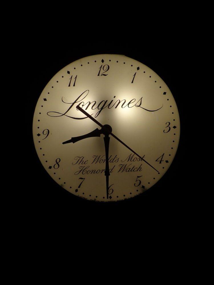 Rare Original VINTAGE 1950s LONGINES Watch ADVERTISING Lighted WALL