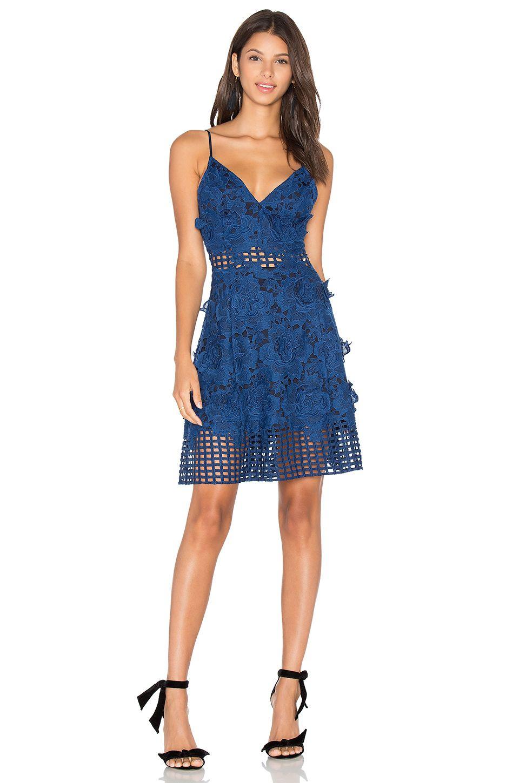 Lovers Friends Dresses Fashion Clothes Women Lace Blue Dress