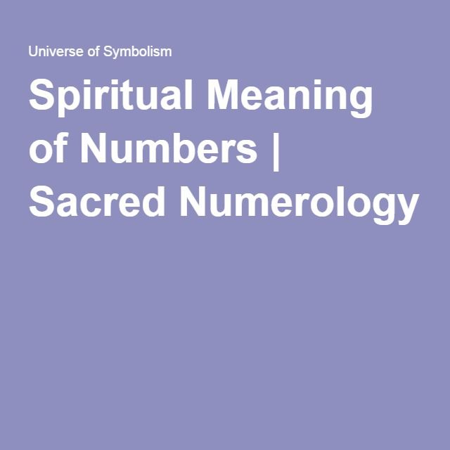 Spiritual Meaning Of Numbers