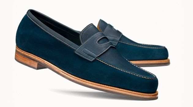 JOHN LOBB Loafers Dark blue Men