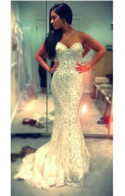 Diamonds Wedding Reception Dresses