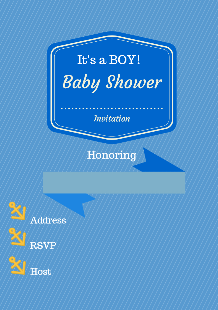 Free Printable Baby Shower Invitations - Boy - Girl - Nautical ...