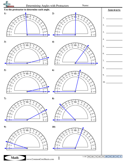 determining angles with protractors worksheet idea pinterest worksheets math and protractor. Black Bedroom Furniture Sets. Home Design Ideas