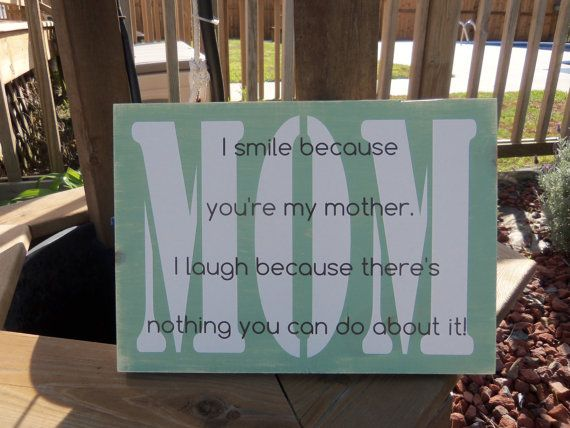 Mother's Day Gift  Mom Funny Saying Wood Home by TheCarolinaYankee, $25.00