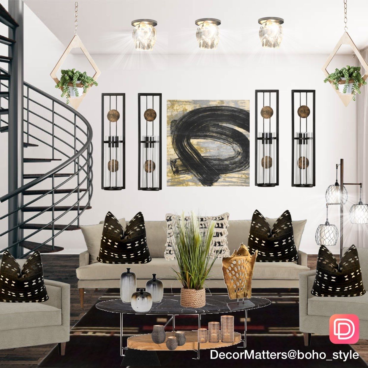 Interior Design Modern Boho Living Room Modern Boho Living