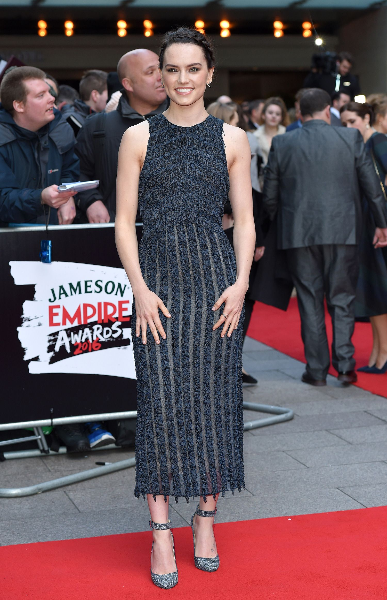 Daisy Ridley in Boss Spring 2016 at 2015 Jameson Empire Awards