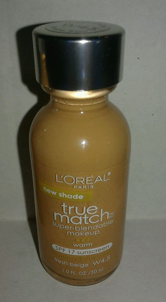 469309351ca LOREAL True Match Super Blendable Fresh Beige W 4.5 liquid Foundation SPF17  #LOreal #truematch #makeup #skincare