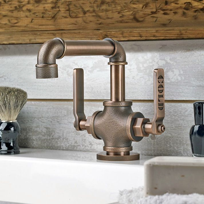 Bathroom faucet looks like an old industrial pipe