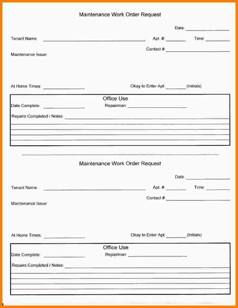 Amazing 4+ Apartment Repair Request Form Template | Simple Gantt Charts