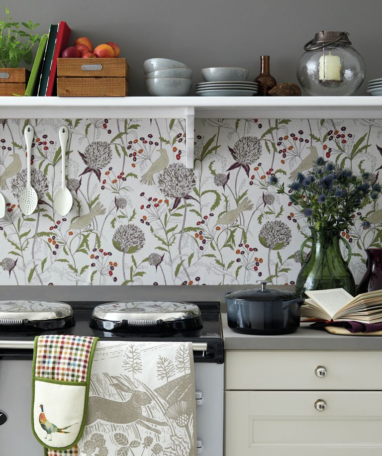 Why It S A Good Idea To Use Wallpaper In The Kitchen According To This Interior Designer Wallpaper Interior Design Kitchen Wallpaper Decor