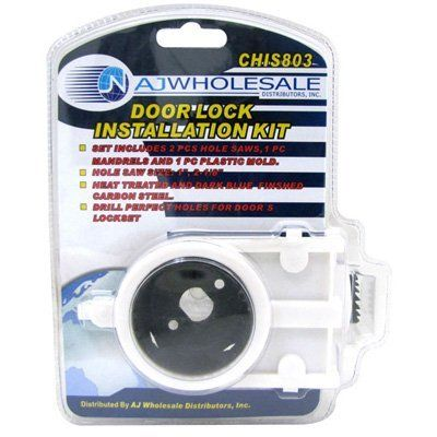 Universal Door Lock And Door Knob Installation Kit . $16.85. Make Replacing  Your Locks A Breeze With The Door Lock Installation Tool Kit.