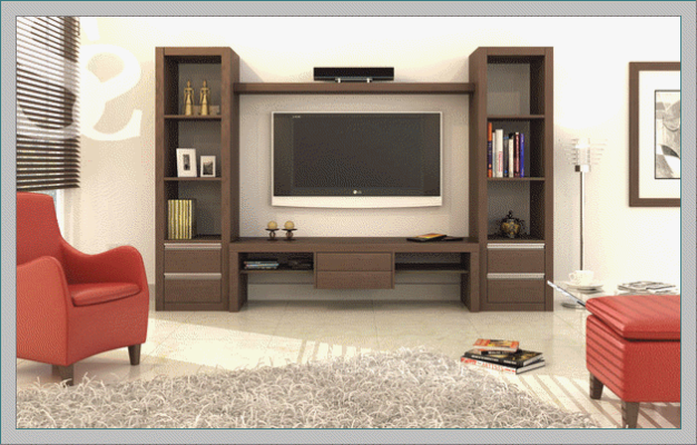 Lcd Tv Showcase Designs For With Images Wall Showcase Design