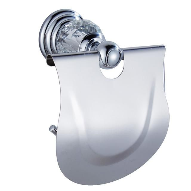 Luxury Crystal Silver Chrome Polished Brass Bath Hardware