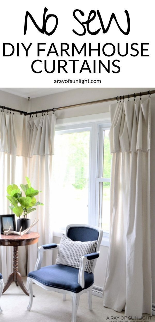 Photo of Cheap DIY Farmhouse Drop Cloth Curtains