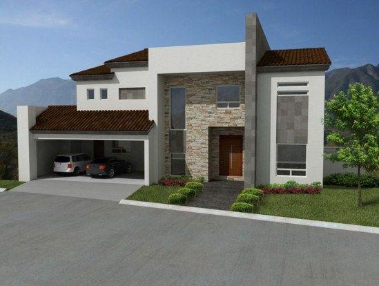 Fachadas de casas con cantera y teja ideas para el hogar - Casas con tejas ...
