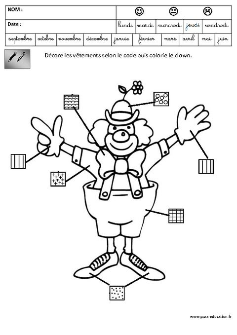 Coloriage Code Carnaval Maternelle.Graphisme Carnaval Maternelle Grande Section Gs
