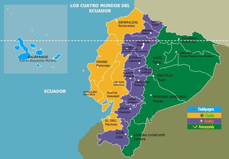 Las 4 Regiones Del Ecuador Costa Sierra Amazonia Y Galapagos