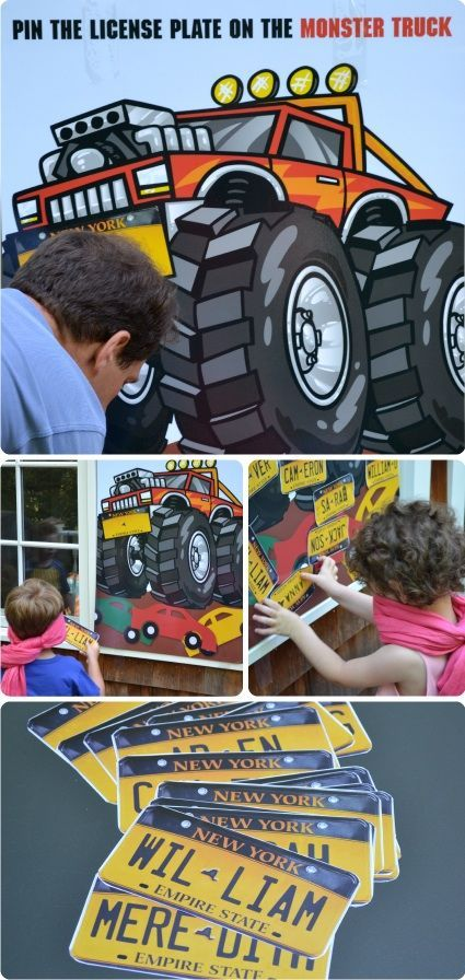 Monster Truck Party Games #MonsterTruck | Party Ideas for Boys | Pinterest  | Monster trucks, Party games and Monsters
