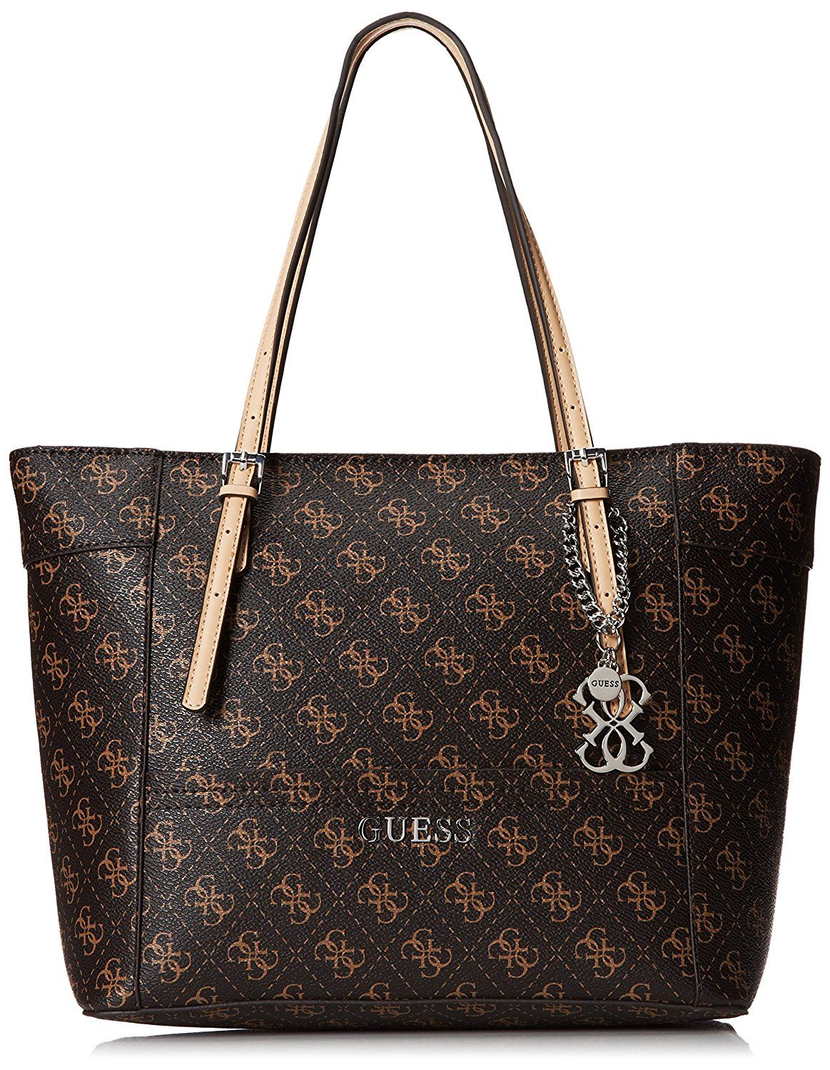 GUESS Delaney Small Classic Tote Brown >>> You can get