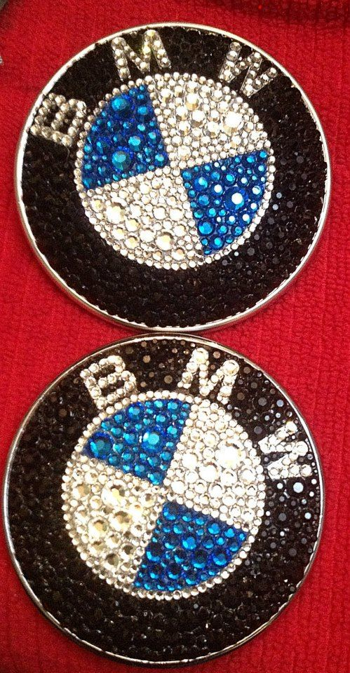 BMW emblems blinged out with Swarovski crystals! www.simplyblinged.com