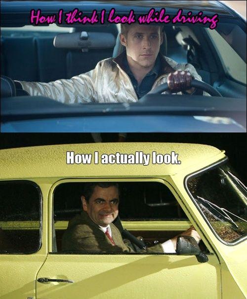 Yes, I look like Mr Bean