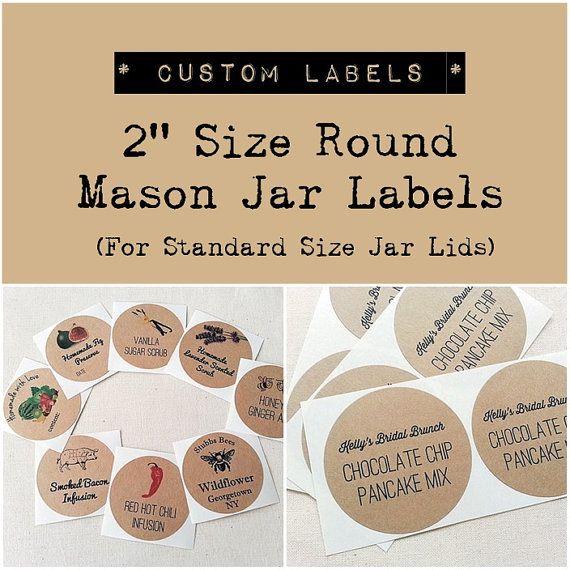 2 Custom Mason Jar Labels Stickers Wedding Favor Product