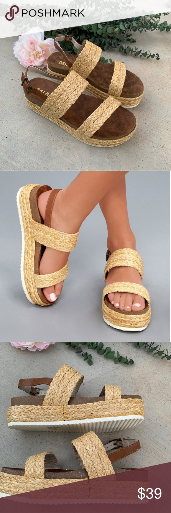 6b3e35d2f28 Mia Ava Raffia Platform Sandal Mia Ava Raffia Platform Sandal Color   Natural Ra Condition