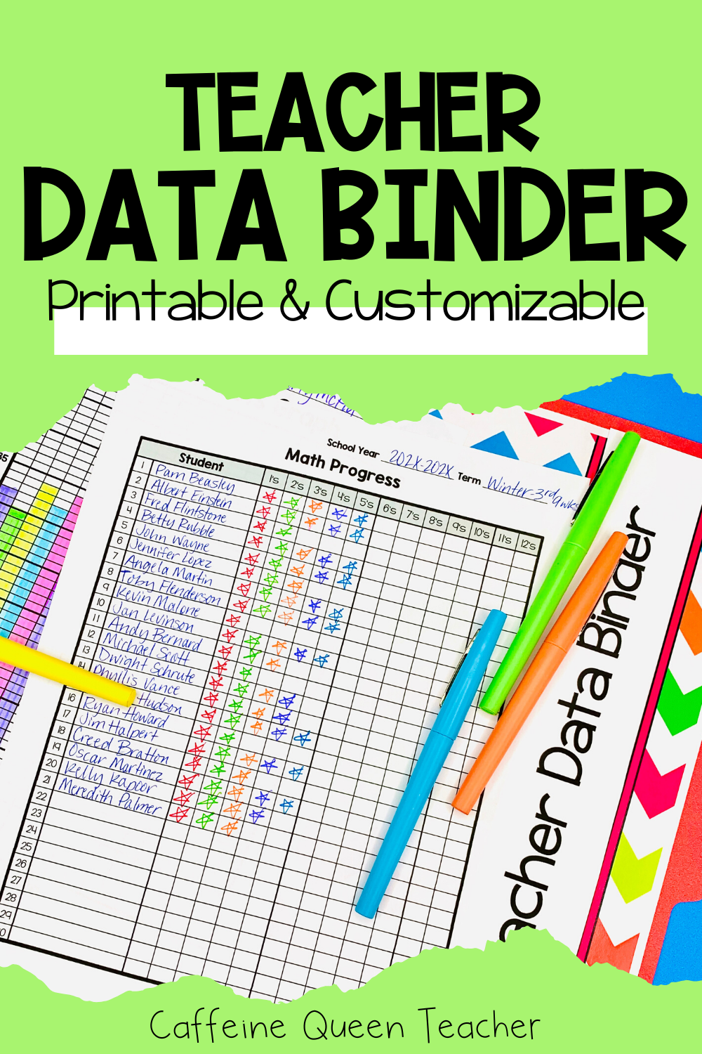 Data Binder For Students And Teachers With Leadership Covers Teacher Data Data Binders Student Data Binders