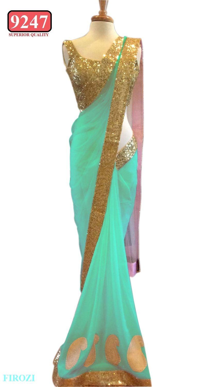 Honeydew Beautiful Designer Blue  Net  Fabrics #Saree  #designersaree #indiansaree #craftshopsindia