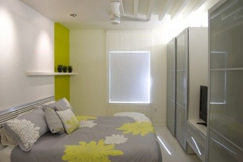 Contemporary bedroom by NOA Architecture Planning Interiors    Colors: white green for modern bedroom