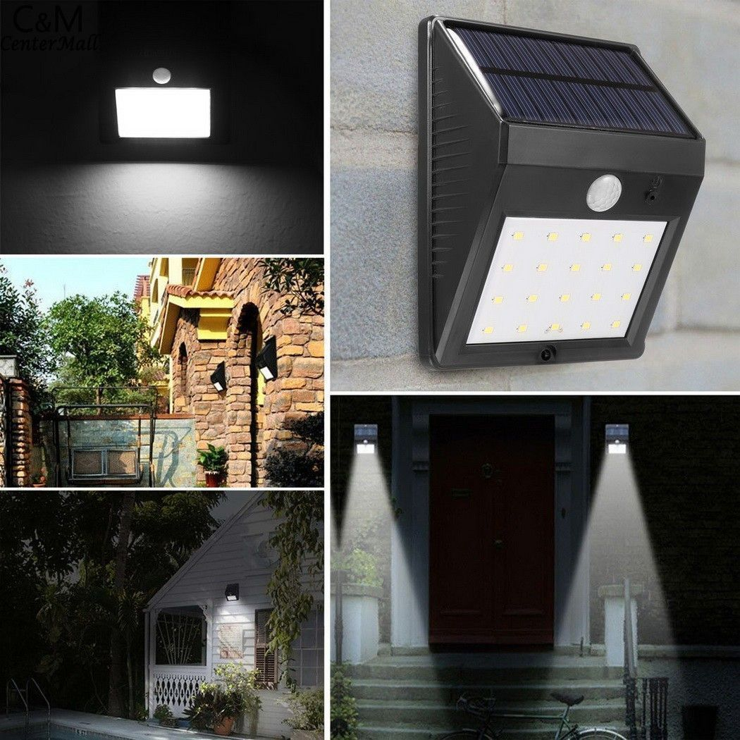 led solar lamp motion sensor wall mounted outdoor waterproof