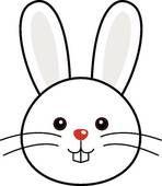 Cute Rabbit Vector Clipart K5670891 Bunny Face Rabbit Vector Clip Art