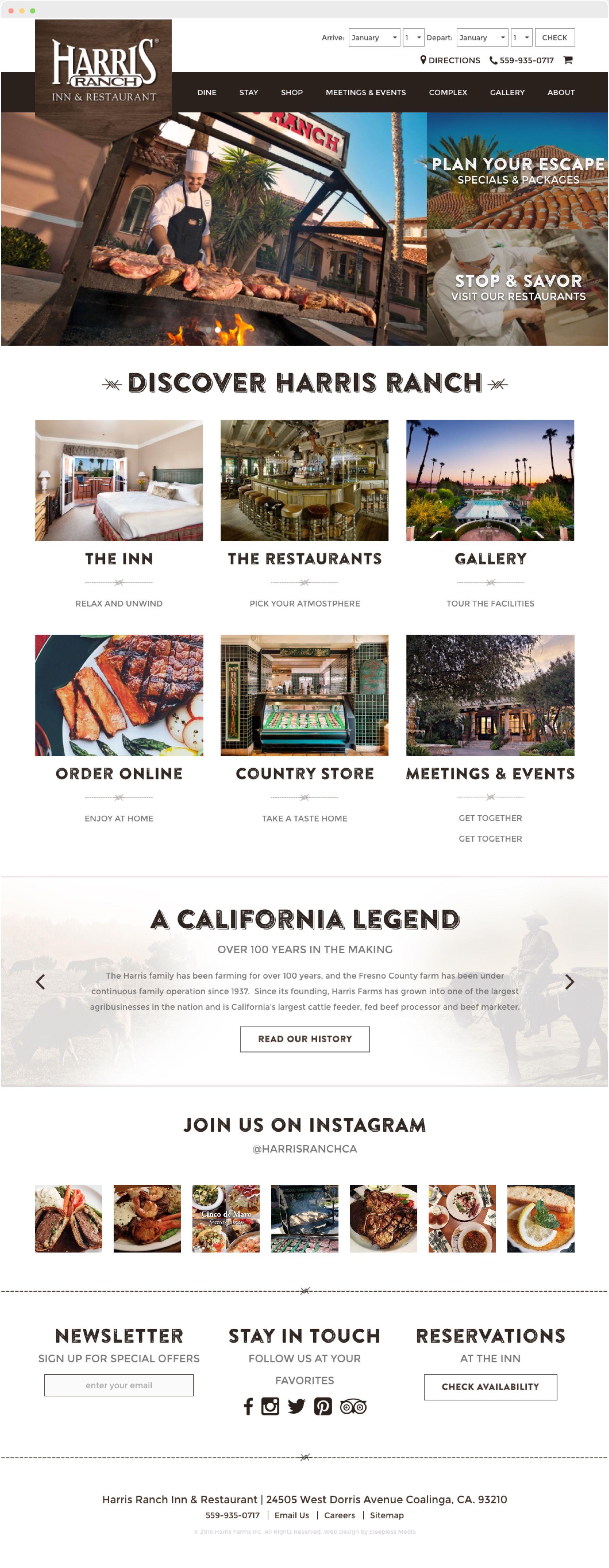 Design Portfolio Harris Ranch Portfolio Web Design Design Website Design Inspiration
