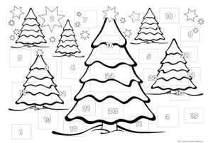 German Advent Calendar Craft Easy For Children All Ages Just Print Color Dec Adventskalender Vorlagen Ausdrucken Adventskalender Vorlagen Adventkalender
