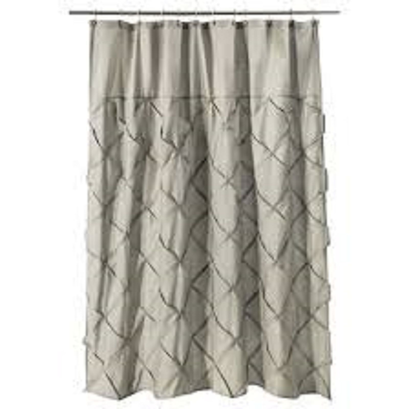 Threshold WHITE Pintuck Shower Curtain New not in package