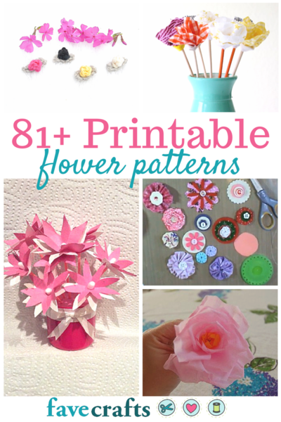 Learn how to make paper flowers, crochet flower patterns, sewn flower patterns, and more with these free printable flower patterns.