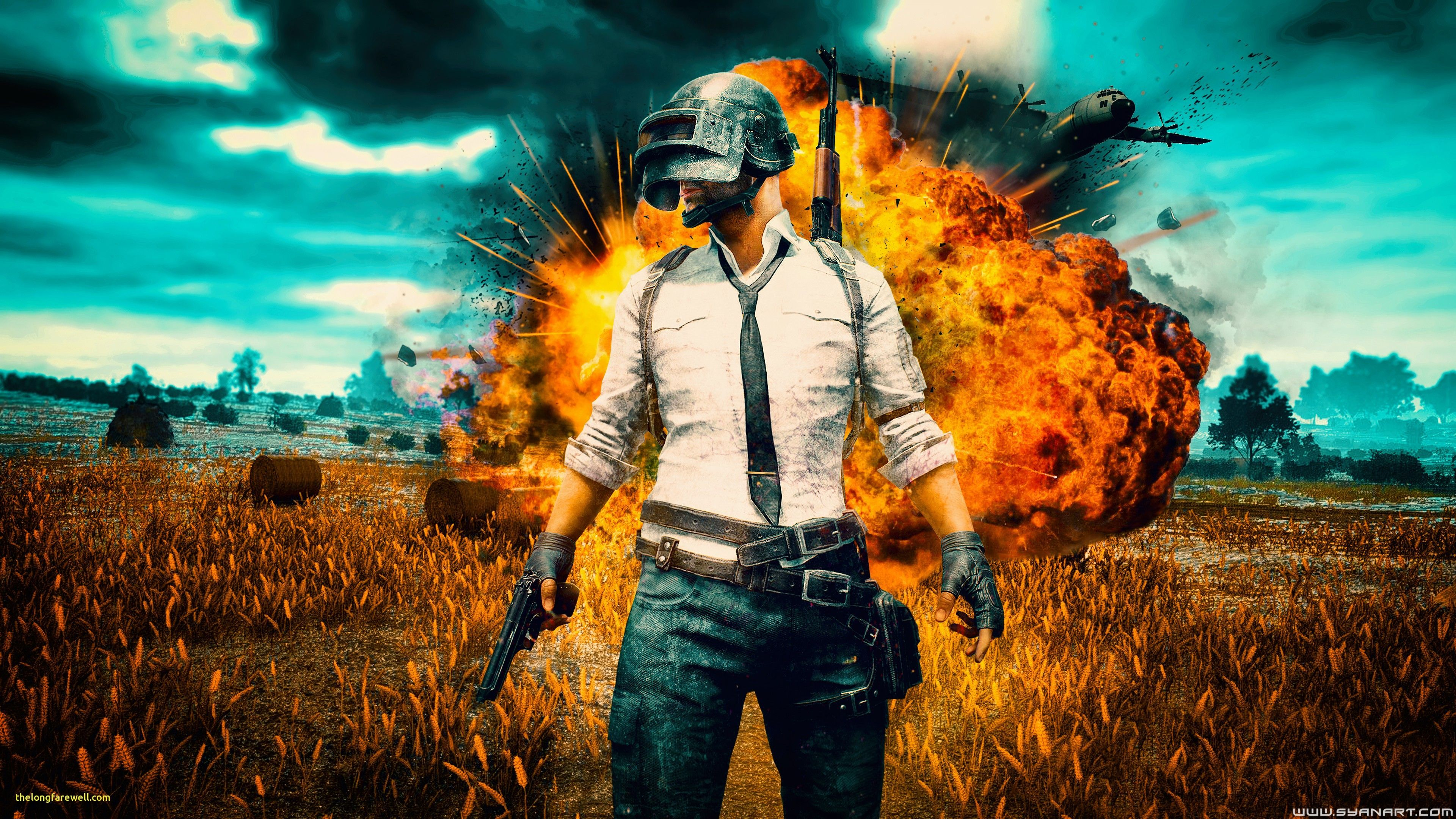 Pubg Helmet Guy With Girls And Guns 4k Hd Games 4k: Pubg Girl With Gun 5k Pubg Wallpapers Playerunknowns