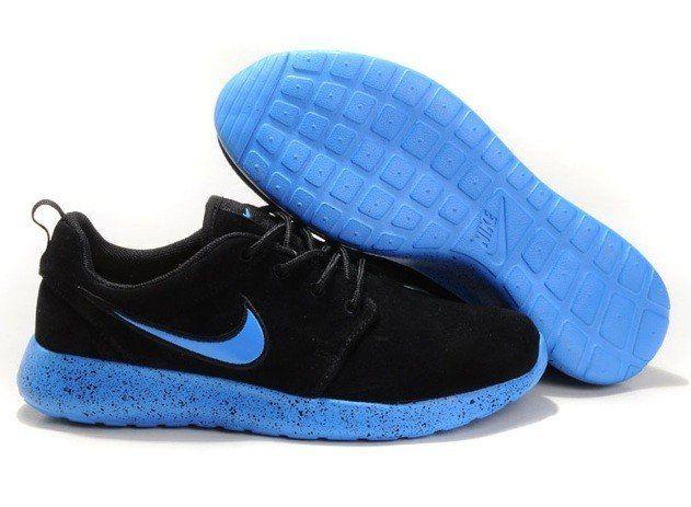 nike mens roshe running shoes wool skin black blue shopping site